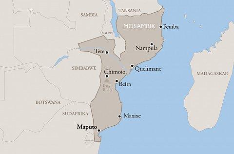 Mosambik Karte.Mosambik World Vision Schweiz