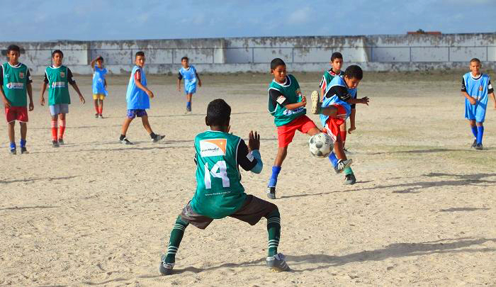 Jugendliche am World Vision Cup 2014 in Brasilien