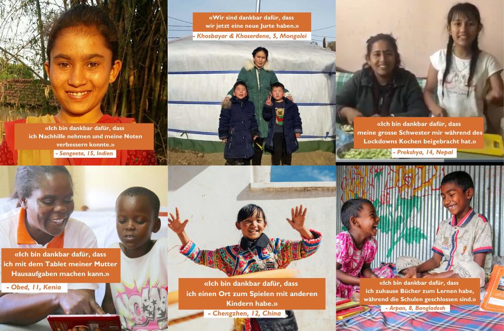 6 Dinge, für die Kinder auf der ganzen Welt dankbar sind